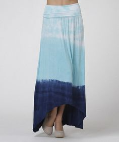 Love this Blue & Navy Tie-Dye Ruched Convertible Hi-Low Dress on #zulily! #zulilyfinds $29.99, regular 64.00
