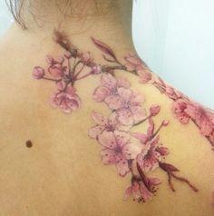 Sweet Tattoos, Dope Tattoos, Dream Tattoos, Body Art Tattoos, Cherry Blossom Tattoo Shoulder, Arm Cuff Tattoo, Tattoos To Cover Scars, Piercings, Taurus Tattoos