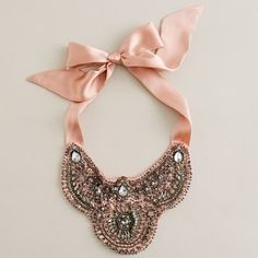 Bib necklace: Yes, please! Ribbon+crystals+some free hours=DIY necklace