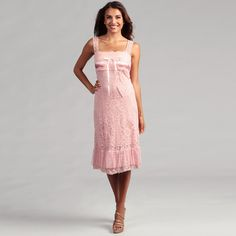 @Overstock.com - Issue New York Womens Pink Allover Crochet Dress - This sweet, pink dress by Issue New York features an allover crochet pattern and flattering empire waist ending in a tulle ruffle hem. Lace straps lead into a square, scalloped neck detailed with a delicate ribbon tie across the bodice.  http://www.overstock.com/Clothing-Shoes/Issue-New-York-Womens-Pink-Allover-Crochet-Dress/6753150/product.html?CID=214117 $80.99