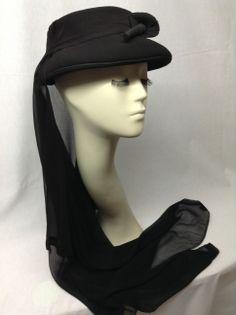 Sombrero de viuda de 1930