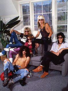 The original Guns N' Roses, circa roughly 1987: Steven Adler, Axl Rose, Slash, Duff McKagan, Izzy Stradlin.