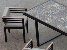 XENIA Aluminium garden chair Xenia Collection by Efasma design AMASS Studio