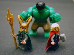 Lego Hulk smash #LEGO Thor Loki Avengers