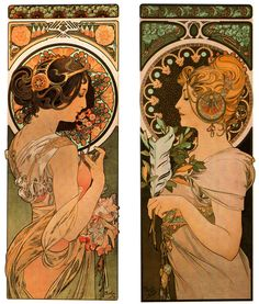 The Cowslip, The Feather, 1899- Alphonse Mucha