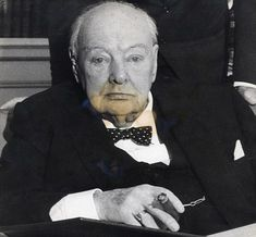 Winston Churchill photographed after being made an Honorary Citizen of the United States of America. He was famous for his pithy and wise sayings