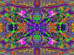 """""""Dharma in the Garden 1 B"""" is a psychedelic art work and image based on flowers from Sacred Square Art and Design."""