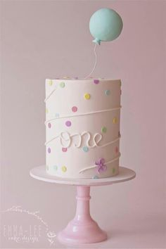 One _birthday cake for little girls one year old
