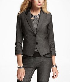 Catalog Spree - EXPRESS Womens Ruched Sleeve Jacket Conan, 4 - EXPRESS