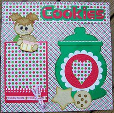 Christmas Cookies 2 page layout part 2