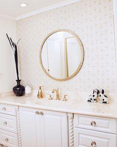 "312 Likes, 17 Comments - Hannah Hagler (@hannahhagler) on Instagram: ""I'm sharing a peek into my master bathroom #ontheblog today. I have loved the David Hicks La…"""