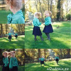 Modelki aQademia korzystają z ostatnich dni ładnej pogody :) Mają na sobie spódniczki CYNTHIA i bluzki LITTLE LADY.