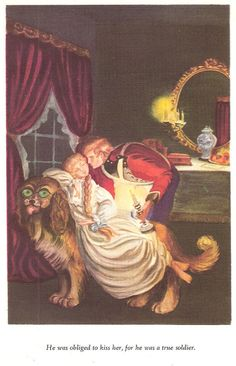 The Tinderbox 1946 Tasha Tudor Illustration Fairy Tale Hans Christian Anderson