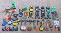 Minecraft stuff made of pyssla beads