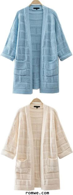 Textured Detail Cardigan With Pocket