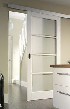 Schuifdeursystemen - CanDo Home Room Design, Home Office Design, House Design, Internal Sliding Doors, Room Doors, Closet Doors, Pocket Doors, Living Room Kitchen, Home Decor Bedroom