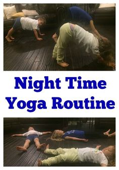Is bedtime a struggle at your house? Are kids too energized after a long day? Try this night time yoga routine for kids to help calm them before bed! Toddler Yoga, Toddler Sleep, Toddler Fun, Toddler Activities, Calming Activities, Baby Yoga, Child Sleep, Yoga For Kids, Exercise For Kids