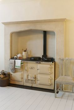 Classic cream AGA cooker; JJ Locations  Had one exactley like this when I was a kid. Love the AGA