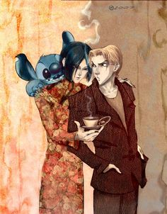 Pet shop of horrors by monIster.deviantart.com on @DeviantArt   you know when you think about it, this really is kinda random; hello Stitch, what are you doing on Count D's shoulder?