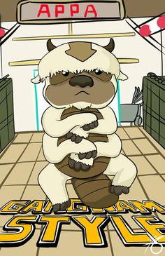 gangnam style appa airbender