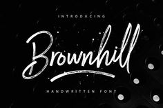 Brownhill Script by sizimon on @creativemarket