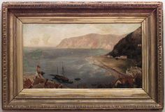 English Victorian picture seascape oil