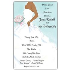 Beautiful African American Shower Invitations from Paper Style