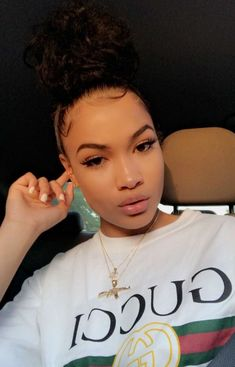 Do you guys like this Beautiful Hair Styles for Black Women? Afro Hair Style, Curly Hair Styles, Natural Hair Styles, Black Girls Hairstyles, Cute Hairstyles, Straight Hairstyles, Collateral Beauty, Bare Face, Glowy Skin