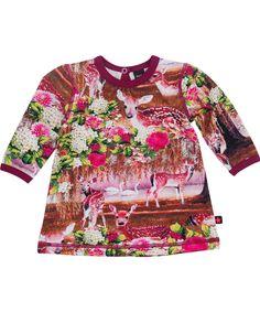 Molo kleurrijke baby jurk met schattige herten print. molo.nl.emilea.be
