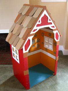 michele made me: House of Card … Board Boxes Source by luckieladyp Cardboard Box Houses, Cardboard Box Crafts, Cardboard Dollhouse, Cardboard Playhouse, Cardboard Crafts, Cardboard Castle, Cardboard Furniture, Hansel Y Gretel, Idee Diy