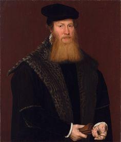 Attributed To Nicolas De Neufchatel - Portrait of an Unknown Gentleman