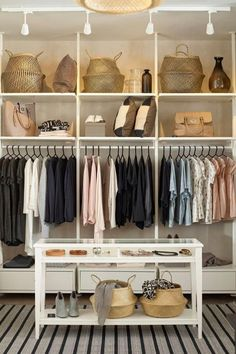 The IKEA ELVARLI system is the perfect clothing storage for any space! You choose how to combine ELVARLI products to create the storage you need, whether you want a reach-in closet, walk-in wardrobe or clothing nook! Hallway Storage, Closet Storage, Bedroom Storage, Closet Organization, Reach In Closet, Walk In Closet Design, Closet Designs, Closet Small, Walk In Closet Ikea