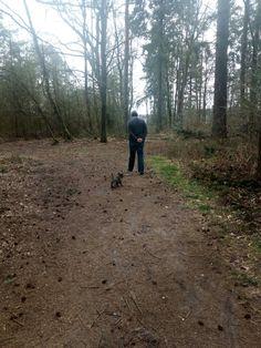 Met de baas in het bos....