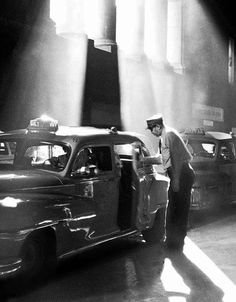 Penn Station Cabs, New York, by Walter Chandoha
