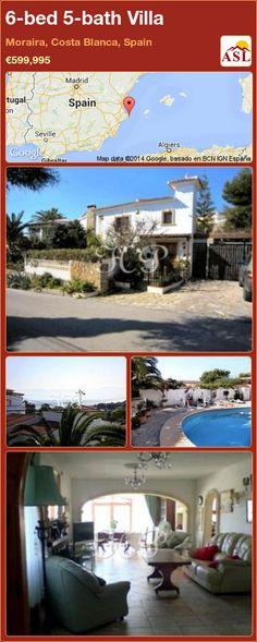 6-bed 5-bath Villa in Moraira, Costa Blanca, Spain ►€599,995 #PropertyForSaleInSpain