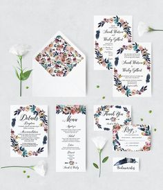 Excited to share the latest addition to my #etsy shop: Dusk Blue and Pink Boho Wedding invitation - Floral Printable Wedding Invites - Custom Wedding Invitation - Personalized Wedding Invitation https://etsy.me/2ICpNsK
