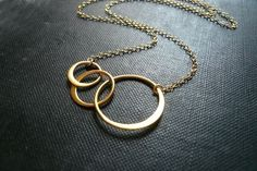 Linked Circles Necklace from roundabout