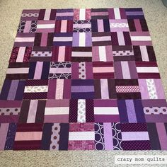 crazy mom quilts: a very purple quilt top