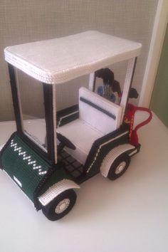 golf cart for barbie plastic canvas