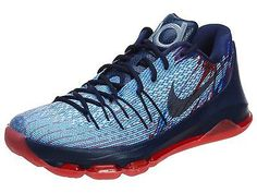 fd4491fce08 Nike KD 8 Independence Day Mens 749375-446 Blue Durant Basketball Shoes Sz  10.5 Nike