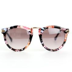 66fe1eca28 Floral Rim Retro Sunglasses Sunglasses Outlet