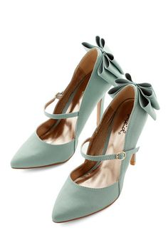 Zeal of Approval Heel. Wear your moxie like a badge of honor by stepping out in these minty high heels! #modcloth