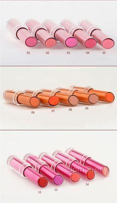 $ 10,96 1pc Alimentados Lip Gloss Batom Brilhante Plump Lip Gloss Lip Tint 12 Colors - BornPrettyStore.com