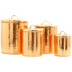 Old Dutch International® 4-pc. Décor Hammered Copper Canister Set   found at @JCPenney