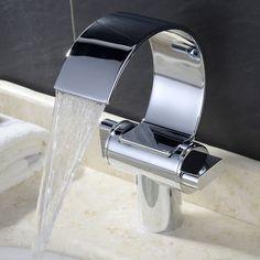 Design Wasserfall Wasserhahn Armatur Waschtischarmatur Waschbecken Bad Spültisch in Heimwerker, Bad & Küche, Armaturen   eBay!