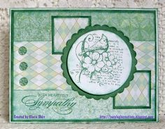 Purpleglo Creations: Sympathy Card Using Cricut Art Philosophy Cartridge