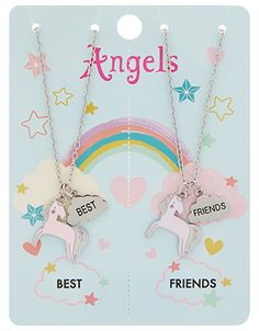 BFF Unicorn Tear & Share Necklaces