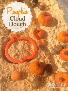Celebrate the Fall season by making your very own Pumpkin-scented Cloud Dough Recipe! This easy, Fall-themed sensory activity is an absolute blast!