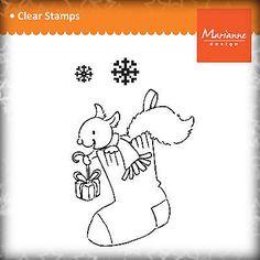 Marianne Design Stempel Clear Stamps - Eichhörnchen im Weihnachtsstrumpf