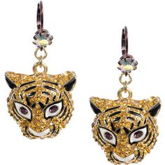 Lsu Tiger Earrings Betsey Johnson Cat Jewelry Ideas Jewelery